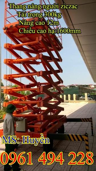 Thang nâng người ziczac 300kg nâng cao 12m -hàng giá tốt